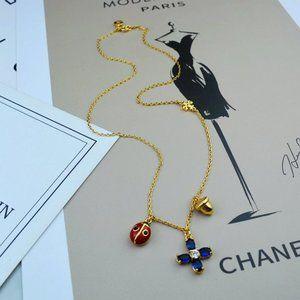 Ladybug Clover Nut Charm Pendants Necklace